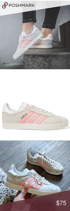 newest 60c9d 106a8 ADIDAS Gazelle Grey and Pink Stripe Size 5.5 ADIDAS Gazelle Grey and Pink  Stripe Size 5.5