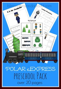 Polar Express Preschool Packet