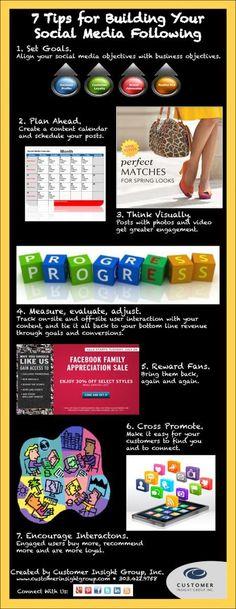 Social Media Tips Infographic | Customer Insight Group