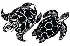 Tortuga Tatuaje Design Imagen de archivo libre de regalías