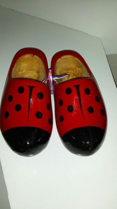 Lady bird wooden shoes