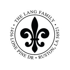 $20 Etsy - Fleur De Lis Custom Address Stamp  Ships in 1-3 Days after proof is accepted 100% Satisfaction Guranteed 3,000-5,000 Impressions for Self Inking
