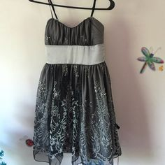 Grey and silver short prom dress Beautiful sparkling grey shirt prom dress/cocktail dress non smoking home Dresses Prom