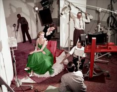 Grace Kelly wearing a green dress for a St. Patrick's Day photo shoot, 1954. Photo by Gene Lester. #kellygreen #stpaddysday