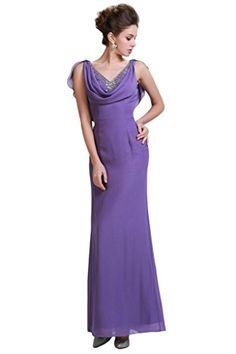 a7109955710 HarveyBridal V-neck Back Mermaid Chiffon Mother of the Bridal Dresses Purple