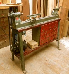 We bought this ancient Delta lathe a number of years back. After replacing a few…