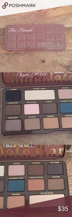 Semi-Sweet Chocolate Bar Palette New in original box. Never used. 16 cocoa powder-infused matte & shimmer shadows. Gorgeous palette! 🚫No trades, price is FIRM. Too Faced Makeup Eyeshadow