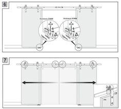 DIYHD 10ft/12ft rustic black double sliding barn door hardware to hang 2 doors