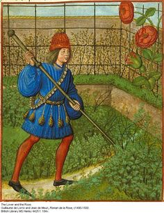 Medieval illustration the grass is NOT always greener on the other side of the fence