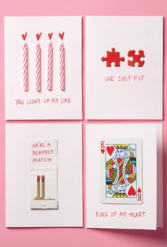 Handmade Valentine's Day Cards: Simple but Cute
