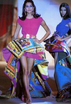Versace s/s 1991 feat Yasmeen  Gurmit