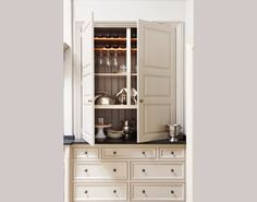Painted Butler cupboard