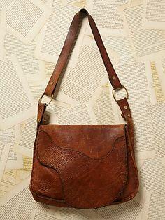 Free People Vintage Leather Messenger Bag