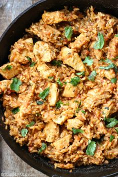 Skillet Chicken Mexican Rice with SimplyGloria.com