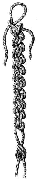 """ KNOTTED CORD "" (this is all done by hand, no equipment needed) nice trim for pillow edging"