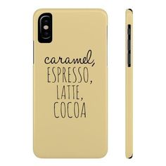 """""""Coffee"""" Slim Phone Cases (115 PEN) ❤ liked on Polyvore featuring accessories and tech accessories"""