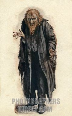 Title:  Fagin from Charles Dickens Oliver Twist . Nineteenth century advertisement for Beerbohm Trees production . CD : English novelist , 7 February 1812 – 9 June 1870 .  ?