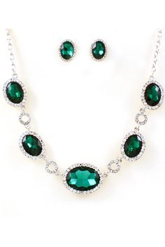Elana Crystal Necklace in Emerald on Emma Stine Limited.. i love emeralds...my favourite