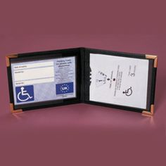 http://www.midlandmobility.co.uk/index.php?main_page=product_info&cPath=75&products_id=582 The wallet opens to display the blue badge and time card, which are protected by clear windows. Made from leather it opens to fully display the badges. Visit our website for more fantastic products. Midland Mobility 194 Torrington Avenue, Tile Hill, Coventry, CV4 9BL Tel. 02476 462424