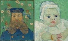 Reunited: Van Gogh's 'Portrait of Joseph Roulin' & 'Roulin's Baby' hang alongside each other at +The National Gallery of Art, Washington DC