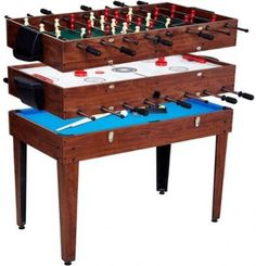 Multi Game Combo Table Sports Billiard Foosball Air Hockey Soccer Kids Pool  Ping