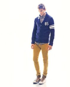 that cardigan is just awesome. Uh, for a guy, hahas. <3 the yellow
