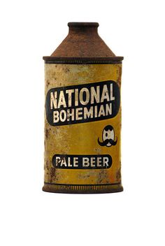 National Bohemian.  I love that it really l looks like an oil can, not oil can-eque.
