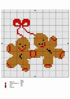 Mes points de croix... - Grille Gingerbread...