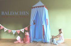 BALDACHIN mit Rollo ♥ 450cm Betthimmel& Spielzelt  von Märchen von der Lichtfarbe WEISS❣ auf DaWanda.com