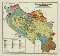 Ethnic map of Yugoslavia made by Nazi Germany in 1940 #map #ww2 #yugoslavia