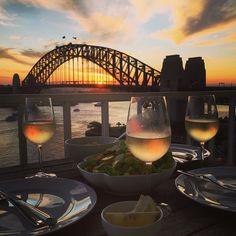 Sunset in a glass #sunset #Sydney #sydneyharbourbridge by benpopps http://ift.tt/1NRMbNv