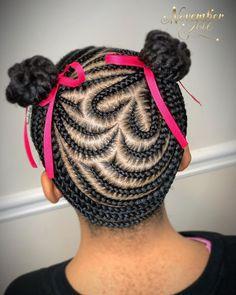 Lil Girl Hairstyles Braids, Natural Cornrow Hairstyles, Little Girls Natural Hairstyles, Kids Braided Hairstyles, Hairstyle Ideas, Little Girl Braid Styles, Kid Braid Styles, Braids For Kids, Girls Braids