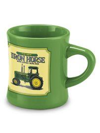 Stoneware Diner Mug By Mccormick Farmall (Green   John Deere Iron Horse) By  Farmall