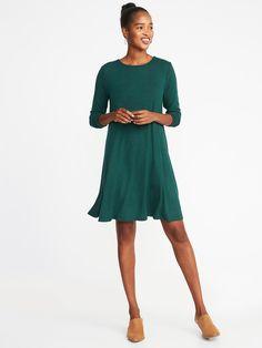 d0d5779979 Plush-Knit Swing Dress for Women