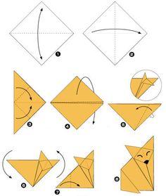 Cómo hacer un zorro con la técnica Origami? - todomini