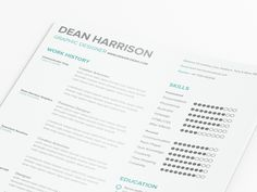 Creative Free, Resume, Template, Minimal, and Typographic image ideas & inspiration on Designspiration Free Indesign Resume Template, Best Free Resume Templates, Cv Template, My Resume, Resume Format, Resume Writing, File Format, Simple Resume, Information Design