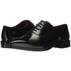 Massimo Matteo 5-Eye Bal 17 (Black Brush-Off) Men's Lace up casual... (630 RON) ❤ liked on Polyvore featuring men's fashion, men's shoes, mens shoes, mens black oxford shoes, mens square toe shoes, mens leather lace up shoes and mens black shoes