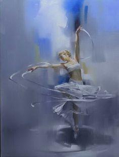 Sensual painting by artist Richard S Johnson Ballerina Painting, Ballerina Art, Ballet Art, Ballet Dancers, Ballerinas, Zebra Kunst, Zebra Art, Dance Paintings, Dance Pictures