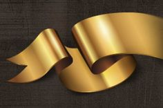 A set of 8 fancy decorative golden vector ribbons. Classic and original styles make it perfect to highlight with shine any...