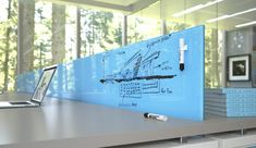 Glass Whiteboards and Glass Dry Erase Boards by Clarus,commerical office ideas, office design Cool Office Space, Office Workspace, Small Office, Office Decor, Open Office, Office Spaces, Office Ideas, Office Furniture, Library Furniture