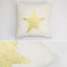 Capa de Almofada Estrela Ouro 45 x 45 cm   A Loja do Gato Preto   #alojadogatopreto   #shoponline   referência 26865741