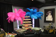 Feather Centerpieces by Ideal Party Decorators - www.idealpartydecorators.com