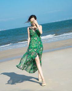 84b3fd31c64a E60 Boho Maxi Long Dress Women Summer Cocktail Beach Party Evening Sudress  K  fashion