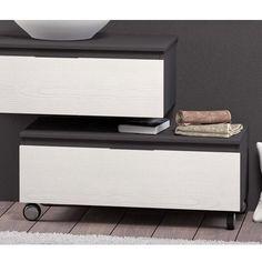 Muebles Auxiliares de Baño CHIC marengo frente blanco roble