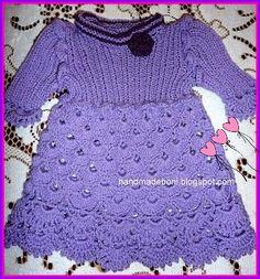 HandmadeBoni: Liliowa sukienka dla dziewczynki:-)
