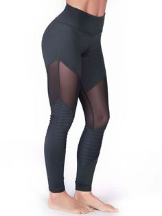 9d925155581d0a See more. High-waisted leggings accented with mesh inserts around the thigh  and detailed with our new