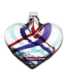 Take a look at the Purple & Red Yahoo Stripe Kitras Blown Heart on #zulily today!