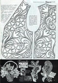 Romanian point lace bolero pattern