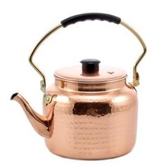 Old Dutch International 875 Hammered Copper Tea Kettle with Bakelite Handle, 2 Qt. Electric Stove, Gas And Electric, Copper Tea Kettle, Stainless Steel Kettle, Girly, Hammered Copper, Copper Pots, How To Make Tea, Dry Hands