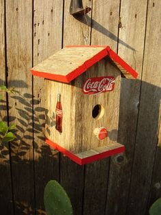 Primitive Coca Cola Bird House by outbackantiques on Etsy